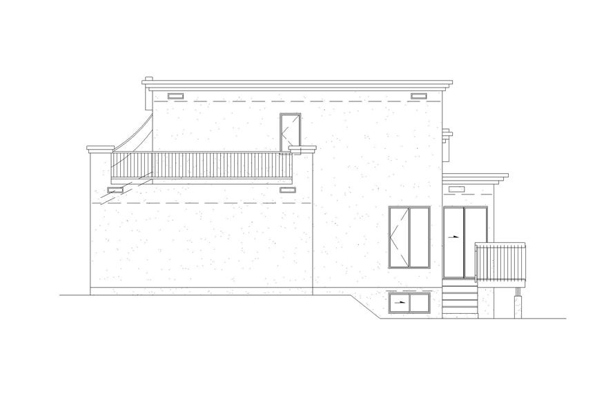 Home Plan Right Elevation of this 3-Bedroom,1865 Sq Ft Plan -157-1208