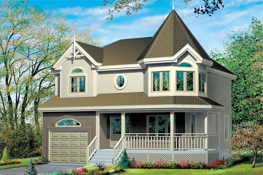 3-Bedroom, 1452 Sq Ft Small House Plans - 157-1209 - Front Exterior