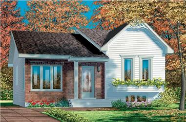 2-Bedroom, 1126 Sq Ft Bungalow House Plan - 157-1210 - Front Exterior