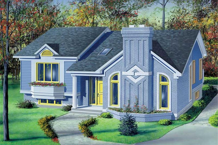 2-Bedroom, 1060 Sq Ft Craftsman House Plan - 157-1211 - Front Exterior