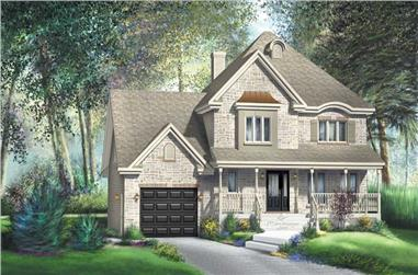 3-Bedroom, 2148 Sq Ft Country Home Plan - 157-1212 - Main Exterior