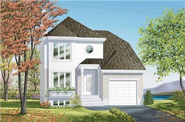3-Bedroom, 1490 Sq Ft Colonial House Plan - 157-1213 - Front Exterior