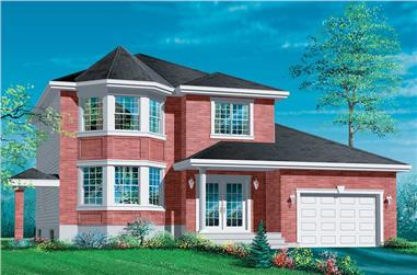 3-Bedroom, 1539 Sq Ft European House Plan - 157-1215 - Front Exterior