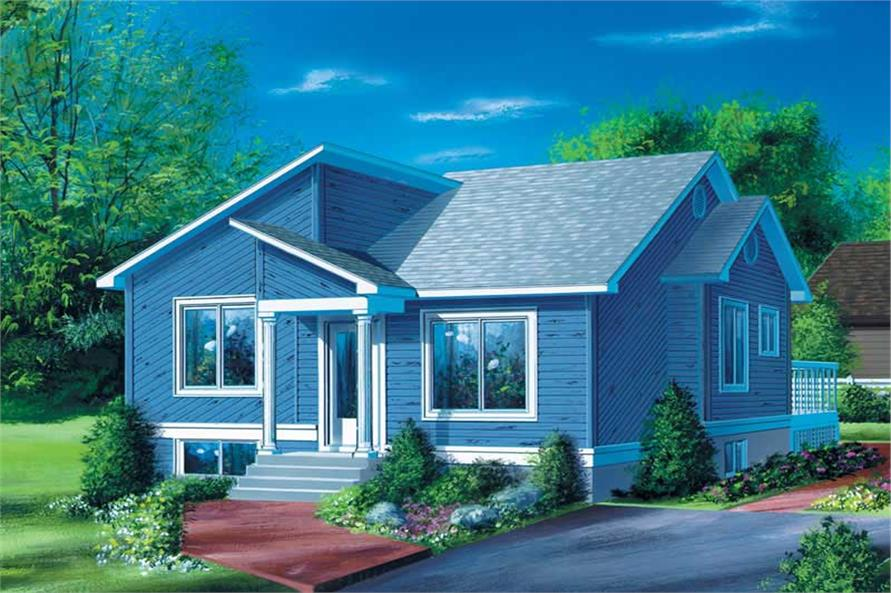 2-Bedroom, 900 Sq Ft Bungalow Home Plan - 157-1218 - Main Exterior