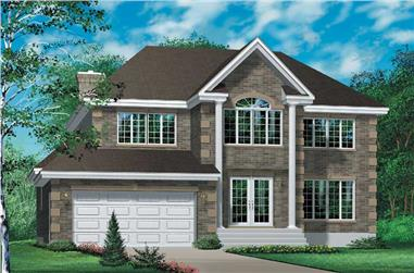 4-Bedroom, 2684 Sq Ft Colonial Home Plan - 157-1220 - Main Exterior