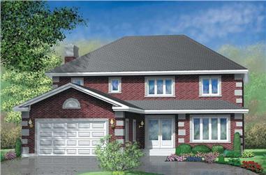 4-Bedroom, 2580 Sq Ft European House Plan - 157-1221 - Front Exterior