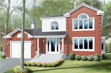 3-Bedroom, 1993 Sq Ft Craftsman Home Plan - 157-1222 - Main Exterior