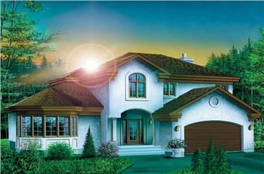 3-Bedroom, 2880 Sq Ft European House Plan - 157-1225 - Front Exterior