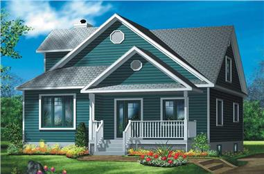 3-Bedroom, 1689 Sq Ft Country House Plan - 157-1228 - Front Exterior