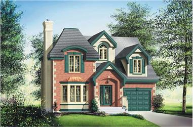 3-Bedroom, 1915 Sq Ft European Home Plan - 157-1229 - Main Exterior