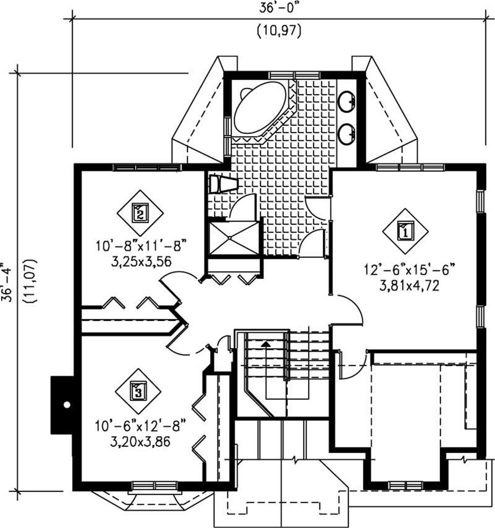 large images for house plan 157 1229