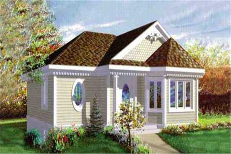 1-Bedroom, 890 Sq Ft Bungalow Home Plan - 157-1230 - Main Exterior