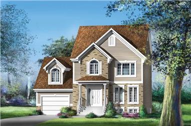 3-Bedroom, 1477 Sq Ft Ranch Home Plan - 157-1232 - Main Exterior