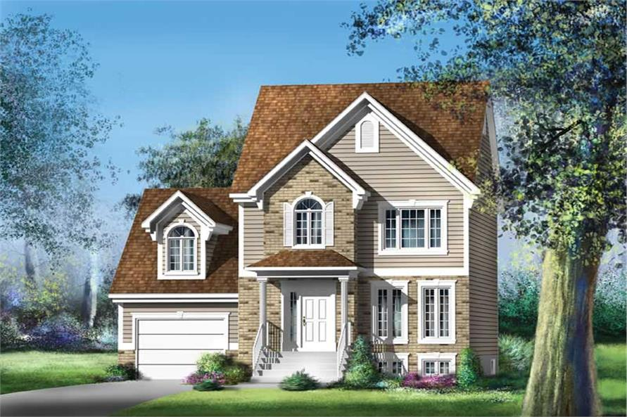 3-Bedroom, 1477 Sq Ft Ranch Home Plan - 157-1232 - Main Exterior
