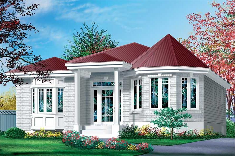 2-Bedroom, 1004 Sq Ft Bungalow Home Plan - 157-1233 - Main Exterior