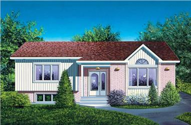 2-Bedroom, 950 Sq Ft Ranch House Plan - 157-1235 - Front Exterior