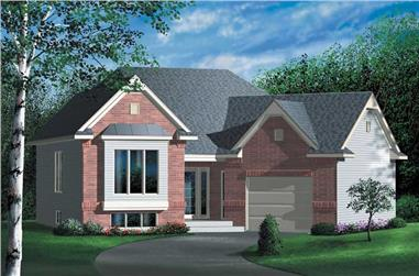 1-Bedroom, 1046 Sq Ft Ranch Home Plan - 157-1237 - Main Exterior