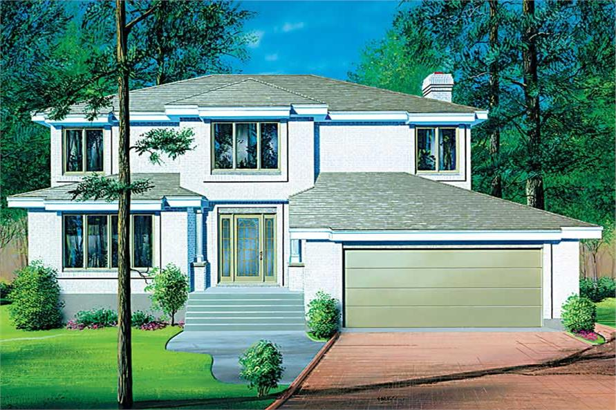 4-Bedroom, 2326 Sq Ft European House Plan - 157-1239 - Front Exterior