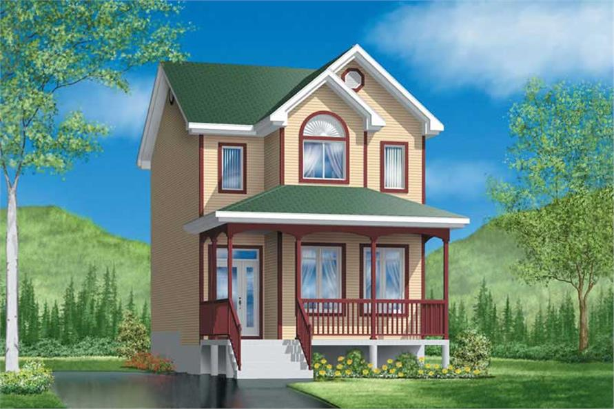 3-Bedroom, 1208 Sq Ft Country House Plan - 157-1241 - Front Exterior