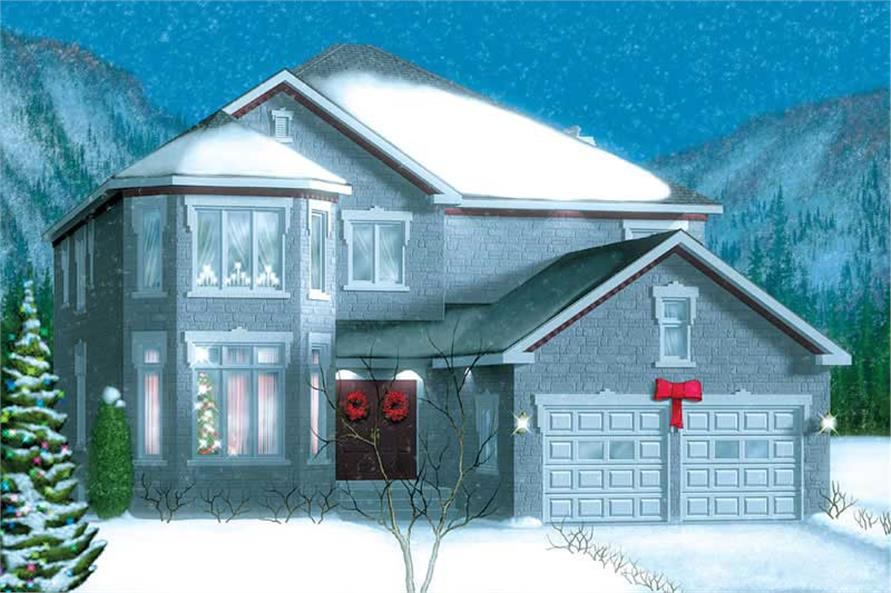 4-Bedroom, 3798 Sq Ft House Plan - 157-1242 - Front Exterior