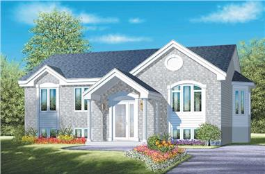 3-Bedroom, 1166 Sq Ft Ranch House Plan - 157-1244 - Front Exterior