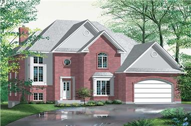 3-Bedroom, 2536 Sq Ft European House Plan - 157-1245 - Front Exterior
