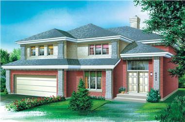 4-Bedroom, 3476 Sq Ft Craftsman Home Plan - 157-1247 - Main Exterior
