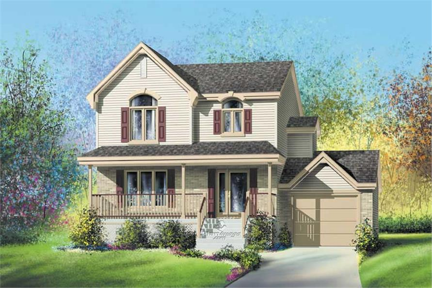 1-Bedroom, 1246 Sq Ft Country Home Plan - 157-1250 - Main Exterior