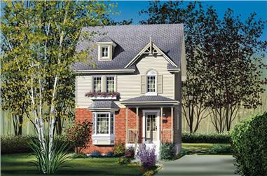 2-Bedroom, 1152 Sq Ft Ranch Home Plan - 157-1251 - Main Exterior
