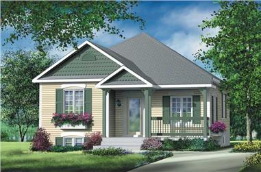 2-Bedroom, 892 Sq Ft Bungalow Home Plan - 157-1254 - Main Exterior