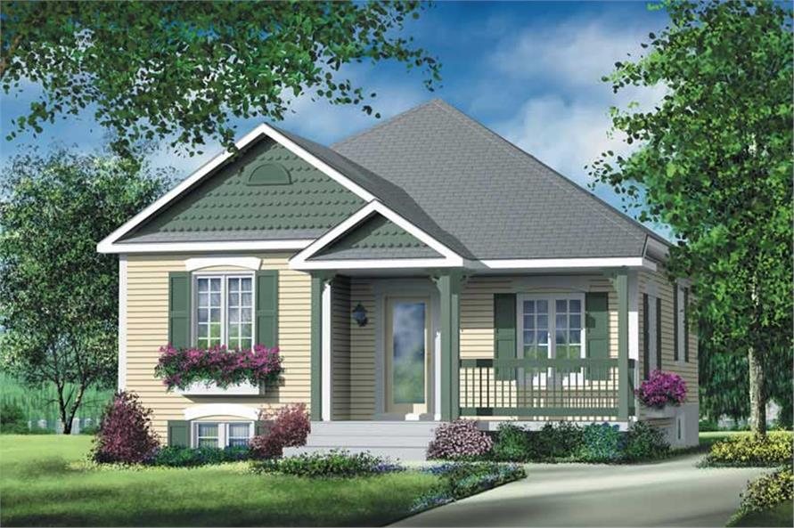 #157 1254 · 2 Bedroom, 892 Sq Ft Bungalow Home Plan   157 1254   Main Pictures Gallery