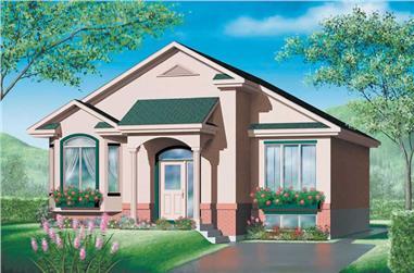 2-Bedroom, 996 Sq Ft Bungalow Home Plan - 157-1255 - Main Exterior