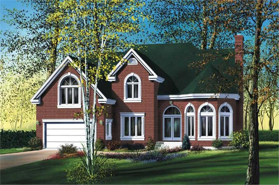 3-Bedroom, 2242 Sq Ft Multi-Level Home Plan - 157-1256 - Main Exterior