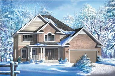 4-Bedroom, 2121 Sq Ft Multi-Level Home Plan - 157-1258 - Main Exterior