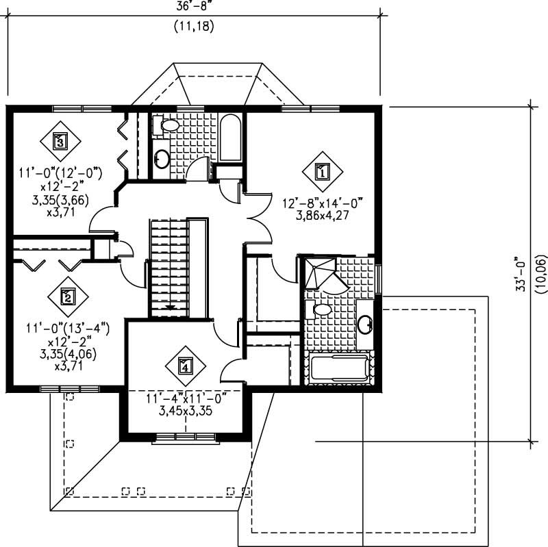 Multi level house plans home design pi 20842 12255 for Multi level floor plans