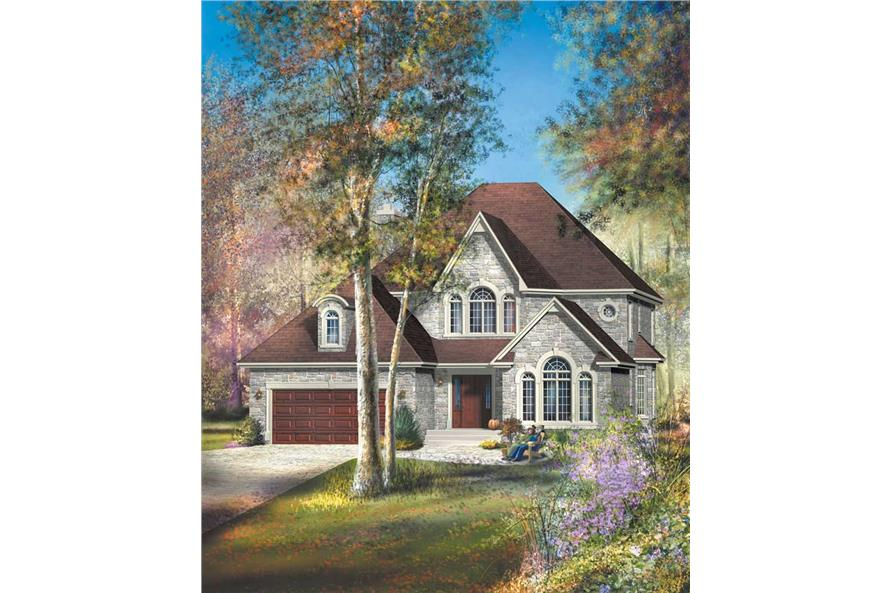 4-Bedroom, 2718 Sq Ft French Home Plan - 157-1259 - Main Exterior