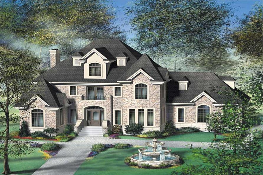 4-Bedroom, 2944 Sq Ft French House Plan - 157-1260 - Front Exterior