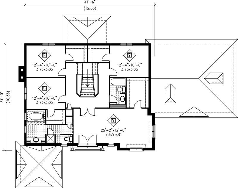 Multi level french house plans home design pi 20811 12252 for Multi level floor plans