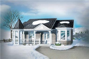 1-Bedroom, 940 Sq Ft Bungalow Home Plan - 157-1261 - Main Exterior