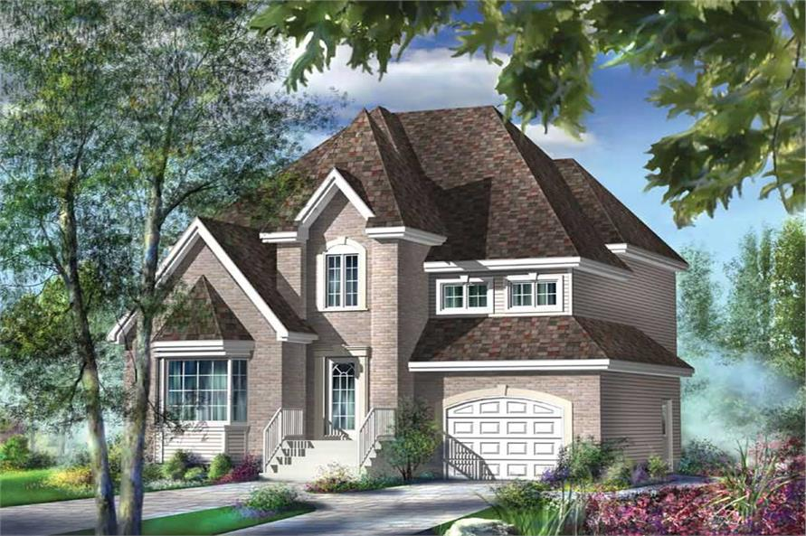 3-Bedroom, 2025 Sq Ft European House Plan - 157-1262 - Front Exterior