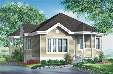 2-Bedroom, 957 Sq Ft Bungalow House Plan - 157-1263 - Front Exterior