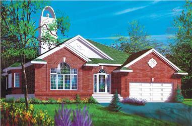 2-Bedroom, 1749 Sq Ft Craftsman Home Plan - 157-1265 - Main Exterior