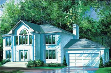4-Bedroom, 3352 Sq Ft Colonial Home Plan - 157-1269 - Main Exterior