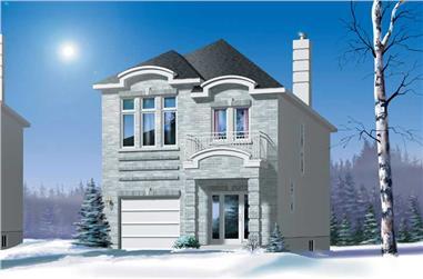 3-Bedroom, 1677 Sq Ft Craftsman House Plan - 157-1271 - Front Exterior