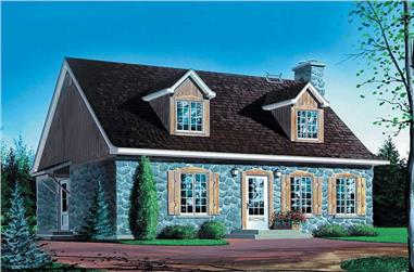 3-Bedroom, 1833 Sq Ft Farmhouse House Plan - 157-1272 - Front Exterior