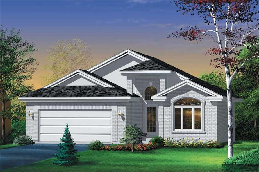 2-Bedroom, 1428 Sq Ft Traditional House Plan - 157-1274 - Front Exterior