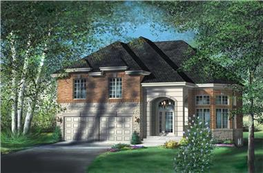 4-Bedroom, 2530 Sq Ft Multi-Level House Plan - 157-1275 - Front Exterior