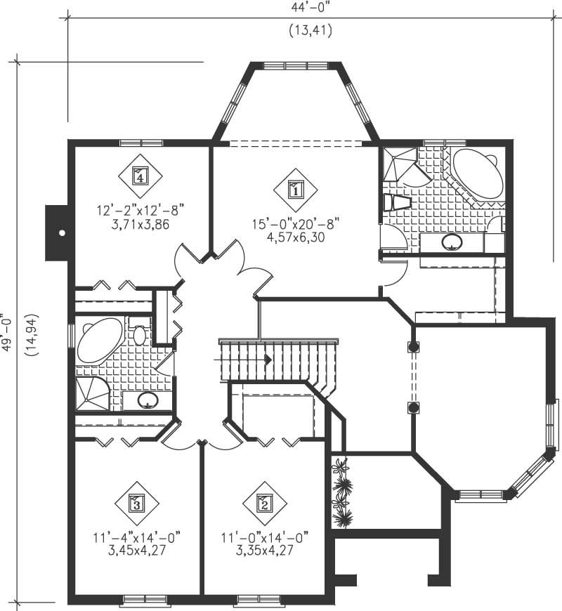 Multi level house plans home design pi 20771 12243 for Multi level floor plans