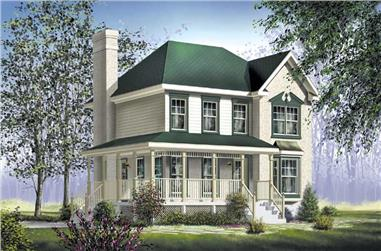 3-Bedroom, 1815 Sq Ft Farmhouse House Plan - 157-1276 - Front Exterior