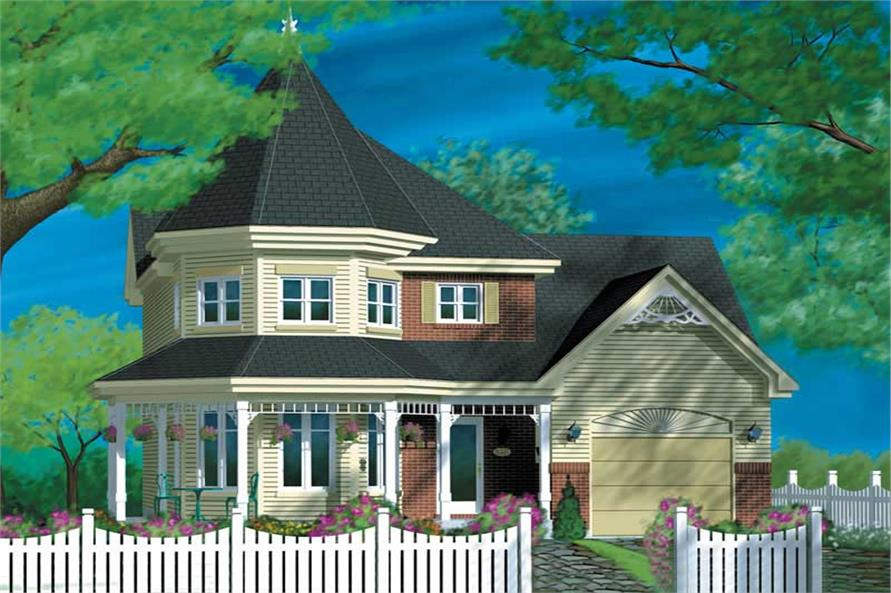 3-Bedroom, 1496 Sq Ft Country Home Plan - 157-1278 - Main Exterior
